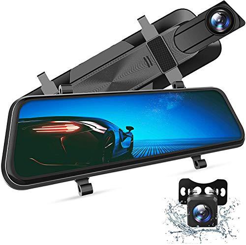 """VANTOP H610 Dashcam 2.5K+1080P Caméra de Voiture Embarquée Caméra Recul 170° Grand Angle G-Senseur, Vision Nocturne Surveillance 24H, Aide Stationnement, Boucles d'Enregistrement, 10"""" Écran..."""