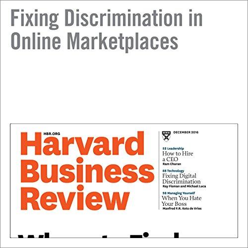 Fixing Discrimination in Online Marketplaces audiobook cover art
