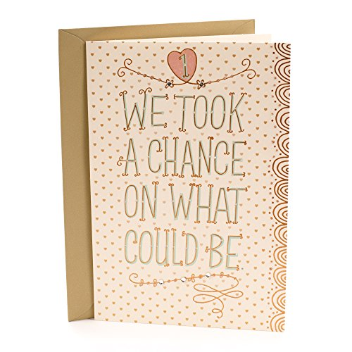 Hallmark First Anniversary Greeting Card (Chance on What Could Be) - 599RZB1026