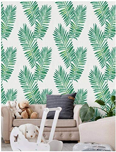 Palm Peel and Stick Wallpaper Shiplap Green Self Adhesive Removable Wallpaper Waterproof Wallpaper product image