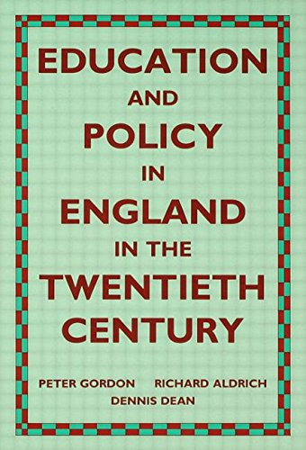 Education and Policy in England in the Twentieth Century (Wo