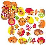 Baker Ross Adesivi di Gommapiuma Riccio (confezione da 120) perfetto per bambini e adulti ...