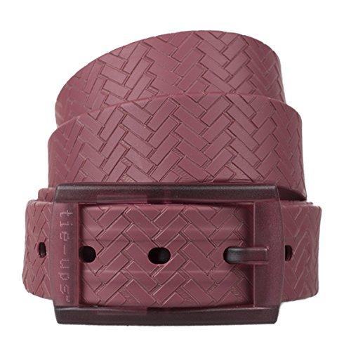 tie-ups Cintura in Gomma con Fibbia in Plastica   Nickel Free - Nessun Metallo   Cintura Uomo e Donna   Colore Scarlet Brick