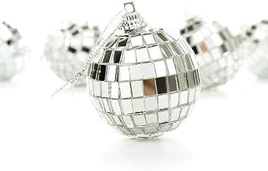 "Bright Reflective Mirror Disco Balls   24 Pack 2"" Christmas Balls Ornaments Xmas Tree Hanging Balls Pendants for Holiday"