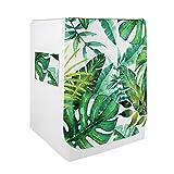 VOSAREA - Copertura per lavatrice con motivo di foglie di palma, coperchio antipolvere, co...