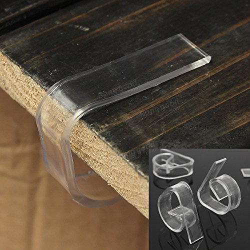 Saver 8pcs/lot Clear Plastic Transparent Table Cloth Cover Clips for Wedding Props Table Skirting Buckle
