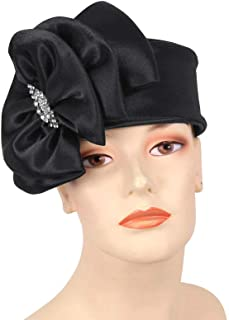 Women's Pill-Box Church Hats - K019 (Purple)