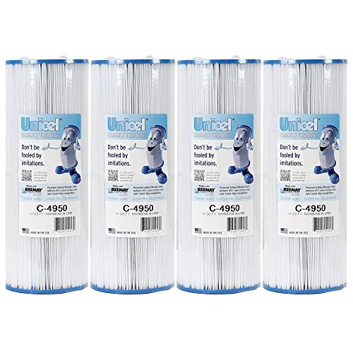 Unicel C4950 Pool/Spa Filter Replace Jacuzzi Cartridge C-4950 50 sq. ft (4 Pack)