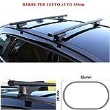 Compatible con Dacia Lodgy 5p 2017 Bares Racks DE Techo para Techo DE Coche 130CM Barra DE Coche DE Barrera Alta Y Baja FIJADA Completamente AL Rack DE Techo Rack DE Acero Negro