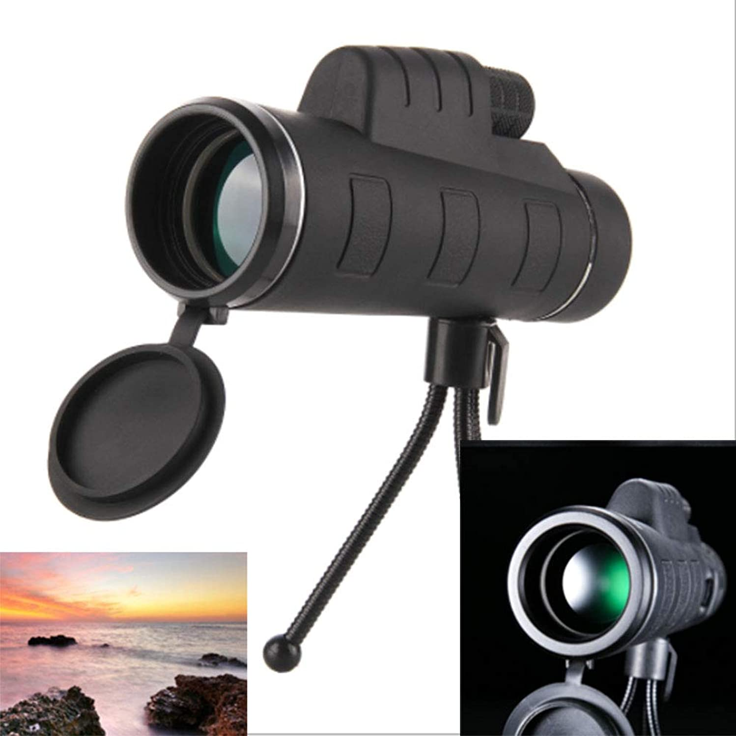 MCJL Pocket 35x50 Single Eye, Compact and Portable, Bird Watching Telescope, Waterproof and Anti-Fog, Low Light Night Vision, Suitable for Outdoor Hunting, Suitable for Adults and Children