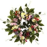 VEED Guirnalda de Flores de Primavera de Camelia Artificial decoración Grande para Puerta de Entrada de Boda