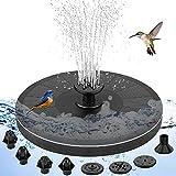 Fontaine Solaire Extérieur, 3W Pompe à Eau Solaire avec 8 Buses de Fontaine avec Panneau Solaire pour Jardin, Bains d'oiseaux ou étangs