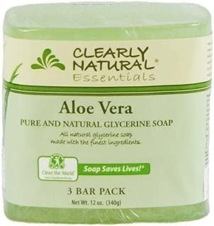Jabon De Glicerina Natural Con Aloe Vera - Para La Cara Y Acne - Paquete De 3 Jabones