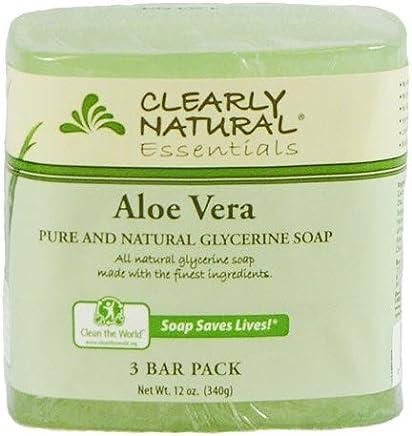 Jabon De Glicerina Natural Con Aloe Vera - Para La Cara Y Acne - Paquete De
