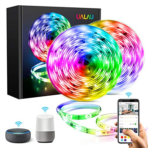 UALAU WiFi Tiras LED Alexa, Dreamcolor Luces LED WiFi 10M IP65 Impermeable Compatible con Alexa y Google Home, Remoto y Sincroniza con la Música para Hogar, Fiesta, TV Decoración