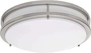 LB72122 LED Flush Mount Ceiling Light, 16-Inch, Antique Brushed Nickel, 23W (180W equivalent) 1610 Lumens 3000K Warm White, ETL & DLC Listed, ENERGY STAR, Dimmable
