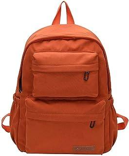 Waterproof Backpack Student School Bags Nylon Large Capacity Women Multi Pocket Female Travel Backpacks for Teenage Girls Boy Best Gift,Orange