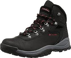 top 10 columbia hiking boots Waterproof Hiking Shoes Newton Ridge Plus Columbia Ladies Black / Red Poppy 8US