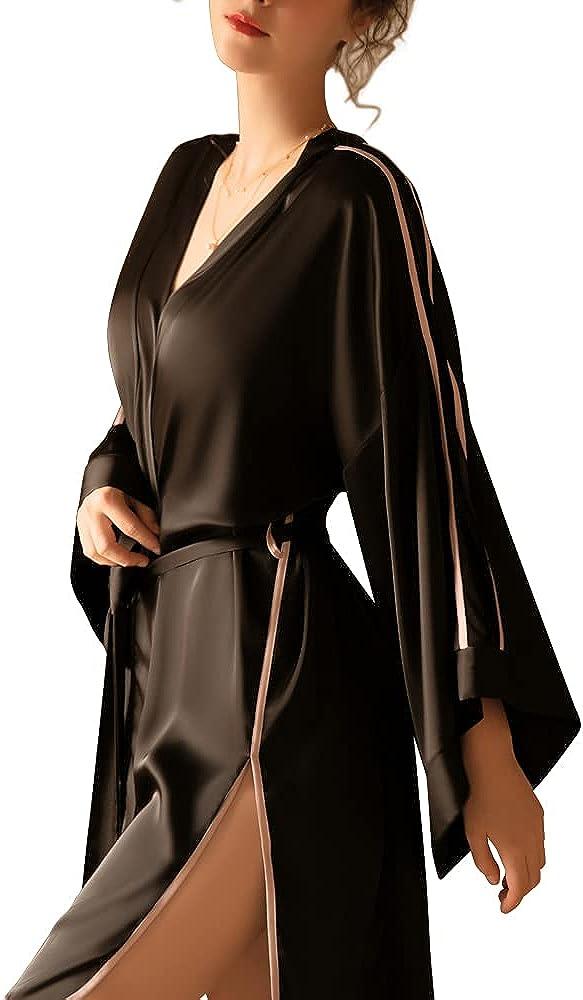DRAIMIOR Women's Colorado Springs Mall Silky Satin Short Robe In stock Bri Lounging Kimono