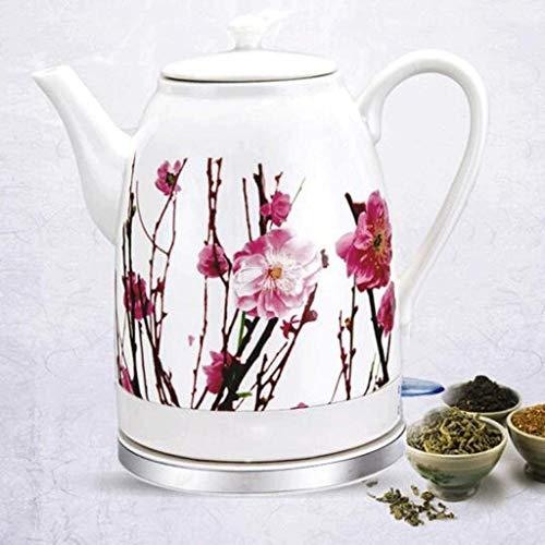 Mnjin Haushalts-Wasserkocher Keramik Schnurloses Wasser Teekanne Automatisches Ausschalten Schnell kochendes Kochen Wasser Schnell für Tee Kaffeesuppe Haferflocken 1.6L