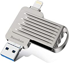 Flash Drive USB 3.0 Memory Stick with Extended Connector Compatible with iPod iOS Windows PC Mac Y45 OTG Pen Drive for iPhone iPad 128GB