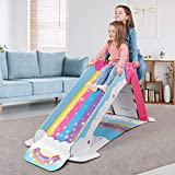 WowWee Kids Slide Indoor – Playground for Toddlers – StrongFold Technology Cardboard Toddler Slide by Pop2Play (Rainbow)