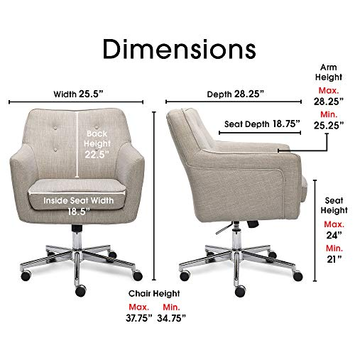 Serta Leighton Home Office Memory Foam Height Adjustable Desk Accent Chair With Chrome Finished Stainless Steel Base Twill Fabric Fresh Lilac Buy Online In India Serta Products In India See Prices Reviews