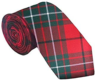 100% Wool Traditional Tartan Neck Tie - Cumming Red Modern
