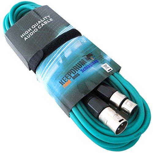 MC Keepdrum de 001x x gr Cable de micrófono XLR 6m verde...