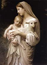 ConversationPrints Virgin Mary Baby Jesus Christ Glossy Poster Picture Photo Banner Angel Lamb