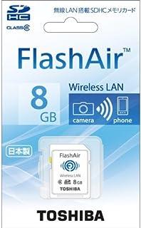 TOSHIBA FlashAir SDカード 8GB SD-WB008G