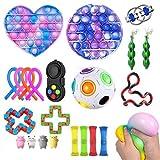 Tianlun Fidget Toys Set, Fidget Toy Fidget Pack per Bambini o Adulti, Pop It Fidget Toy Push Pop Bubble Fidget Sensory Toy Fidget Toys, Fidget Box with Stress Balls Toys
