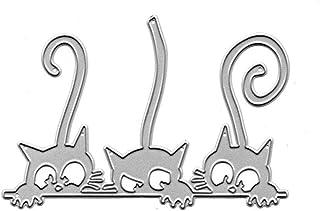 YIUNKH Stampaggio in Acciaio al Carbonio Goffratura Fai da Te Fustelle da Taglio Forma Fustelle Artigianali Gatto Scrapbooking Carte da Goffratura Artigianato Libro Manuale Produzione di Album