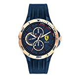 Scuderia Ferrari Pista Analog Blue Dial Men's Watch-830724