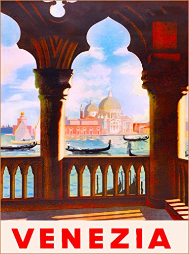 VENEZIA VENICE ITALY VINTAGE ART ITALIAN EUROPE TRAVEL ADVERTISEMENT ART Collectible Wall Decor POSTER Print. 10 x 13.5 inches