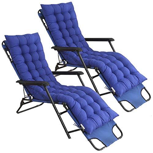 Gboxer Lounge Matras, 2 stuks, met hoge rugleuning, dikke tuin/buitenmat, ligstoel, schommelstoel, kussen voor buiten