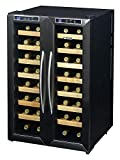 NewAir AW-321ED 32 Bottle Dual Zone Thermoelectric Wine Cooler,...