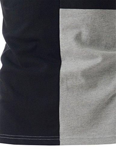 What Lees Mens Urban Casual Basic Short Sleeve Golf Polo Shirts B054-11-gray-M