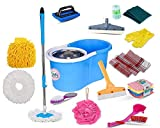 magic mop microfiber cleaning technology durable superior water absorbency non-abrasive Its reusable washable essential spin. mop with bucket 360 degrees rotating mop for easy and better cleaning keeps user hand totally clean no extra power consumpti...