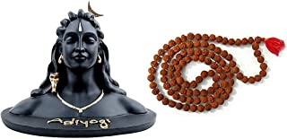 Artwork Creation Adiyogi Statue for Car Dash Board, Pooja & Gift,for Home & Office Decore, Made in India (Adiyogi)