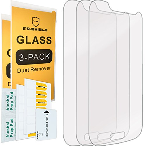 [3-Pack]-Mr.Shield for Samsung Galaxy S4 Mini [Tempered Glass] Screen Protector with Lifetime Replacement