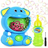 Gifort Maquina Burbujas Niños, Máquina de Burbujas Automática Portátil con Jabón Líquido 118 ml, Maquina Pompas Jabon de Elefante para Niños Juguete de Baño Fiestas Bodas