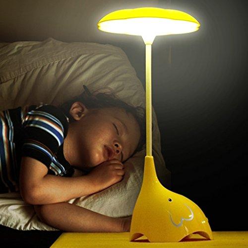 Veilleuses Lampes et éclairage LED Veilleuse Interrupteur tactile Éléphant enfant Interrupteur tactile Lumière ambiante Lumière d'humeur lampe de table Lumières d'alimentation Enfants lamp