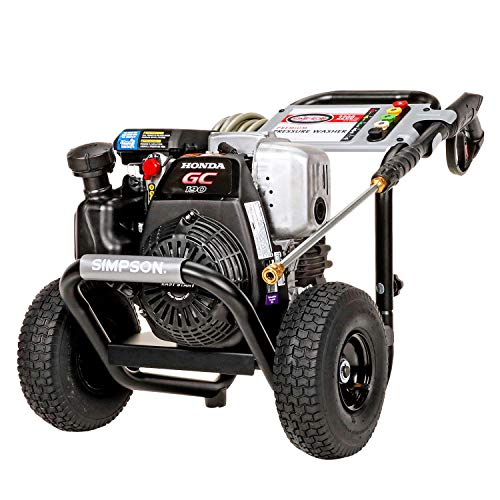 Simpson Cleaning MSH3125 MegaShot Gas Pressure Washer Powered by Honda GC190, 3200 PSI at 2.5 GPM,...