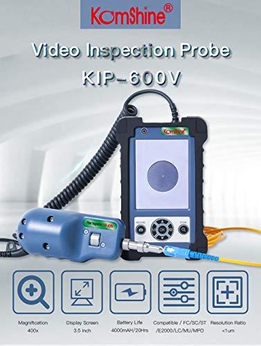 400X Magnification Inspection Probe KIP-600V Fiber Optic Video Inspection Probe and Display, Fiber Optic Inspector with four tips