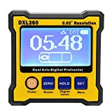 Cloudbox Digital Protractor -Dual Axis Digital Protractor Electronic Inclinometer with Magnetic