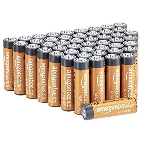 Amazon Basics - Batterie alcaline AA 1.5 Volt, Performance, confezione da 48 (l'aspetto potrebbe variare dall'immagine)