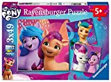 Ravensburger Puzzle, My Little Pony, Puzzle 3x49 Piezas, Puzzles para Niños, Edad Recomendada 5+, Rompecabeza de Calidad