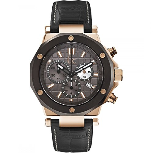 GC X72024G5S - Reloj para Hombres, Correa de Cuero Color marrón