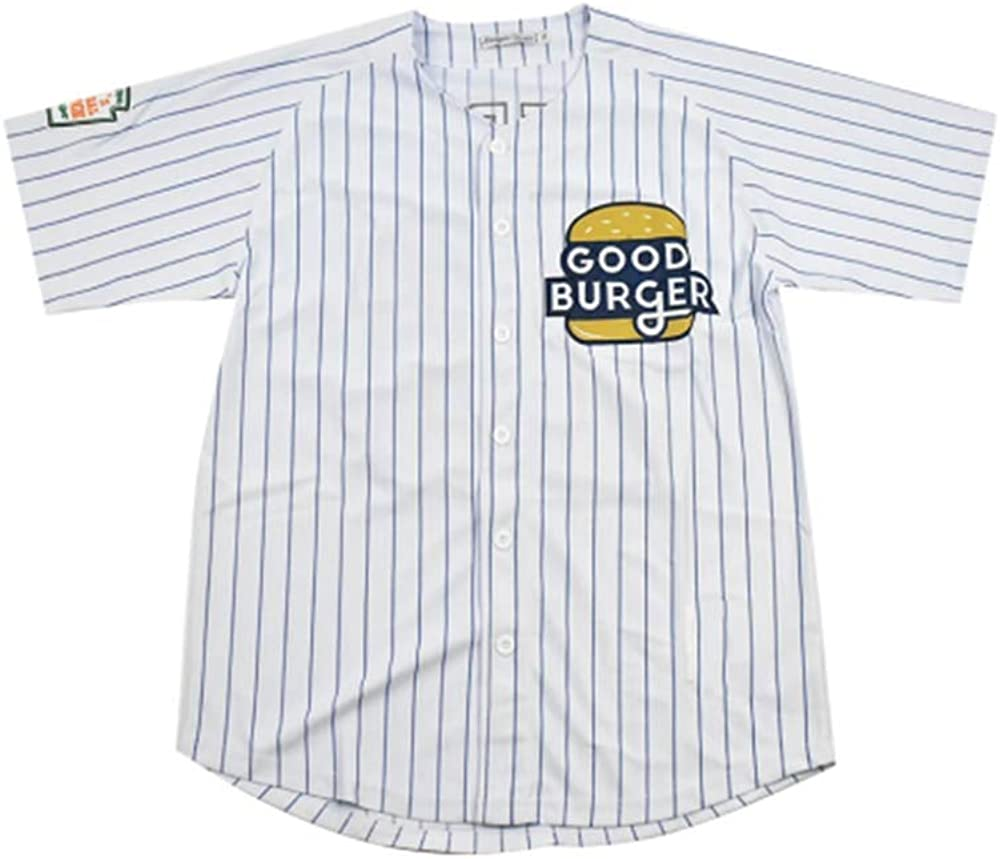 huohua Mens Movie Jersey Good Burger Kel Button Down Baseball Jersey